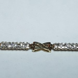 9ct Yellow Gold Cubic Zirconia Infinity Bracelet