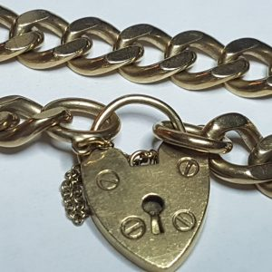 9ct Yellow Gold Curb link Women's Bracelet