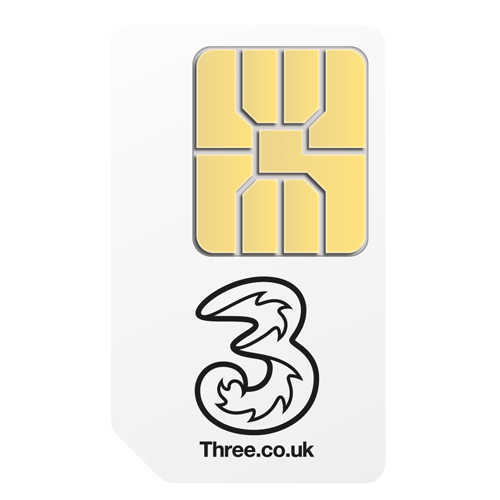 3 Pay As You Go Pre-Pay Micro Sim Card for iPad  - SIM3IPADM
