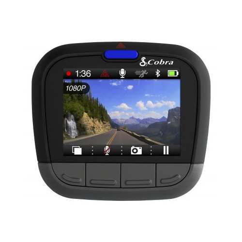 Cobra CDR 855 HD Dash Cam - 1080P Full HD Video Bluetooth and GPS