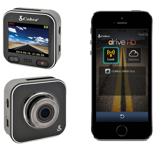 Cobra 1080P Or 1296P HD Dash Camera With WiFi - CDR900