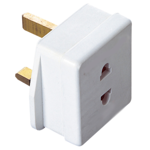 European Plug Converter 2 pin to 3 pin UK - DOMF320AA