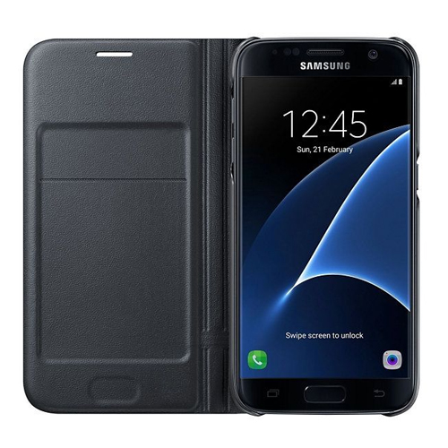 Genuine Samsung LED View Cover For SamsungS7 In Black