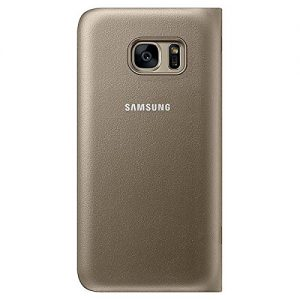 Genuine Samsung LED View Cover For SamsungS7 In Gold