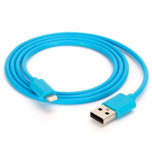Griffin MFI Lightning USB Data Cable In Blue 1M