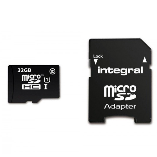 Integral Micro SDHC/XC 90mb 32GB Class 10 Memory Card with SD Adaptor