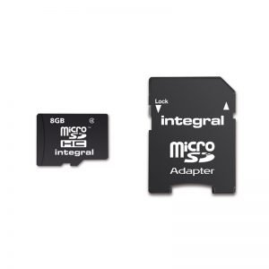 Integral Micro SD 8GB Memory Card with SD Adaptor