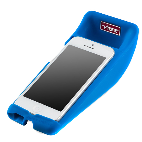 Vibe Slick Cheese Speaker For iPhone5 In Blue