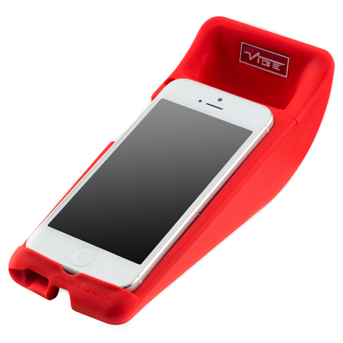 Vibe Slick Cheese Speaker For iPhone5 In Red