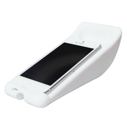 Vibe Slick Cheese Speaker For iPhone5 In White