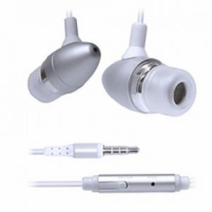 Pama iPhone Stereo Earphones with Mic and Remote - Silver - IPHEMS