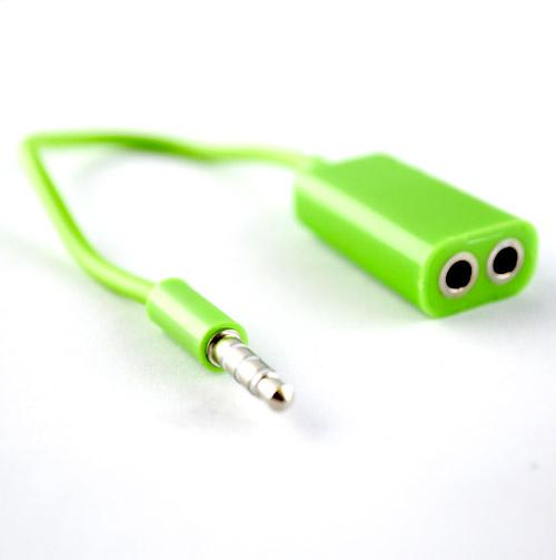 Pama 3.5mm Splitter For Headsets - Green