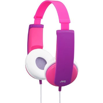 JVC HA-KD5-P Kids Headphone with Volume Limiter in Pink/Violet - JVCHAKD5P