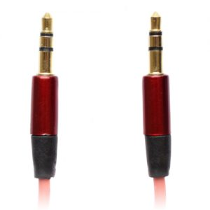 Pama 3.5mm to 3.5mm Stereo Jack Plug Lead - Short Red 60cm
