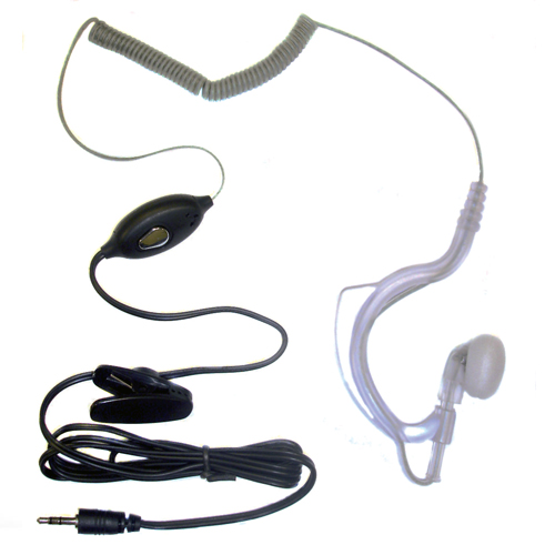 Pama Covert Earhook and Mic with Push to Talk for Cobra MT975 MT800 Radios