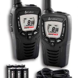 Cobra MT645 Walkie Talkie Radio Twin Pack with  Batteries and Charging Cable