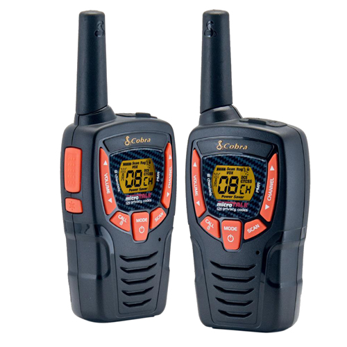 Cobra AM645 Walkie Talkie Radio Twin Pack with  Batteries and USB Charger
