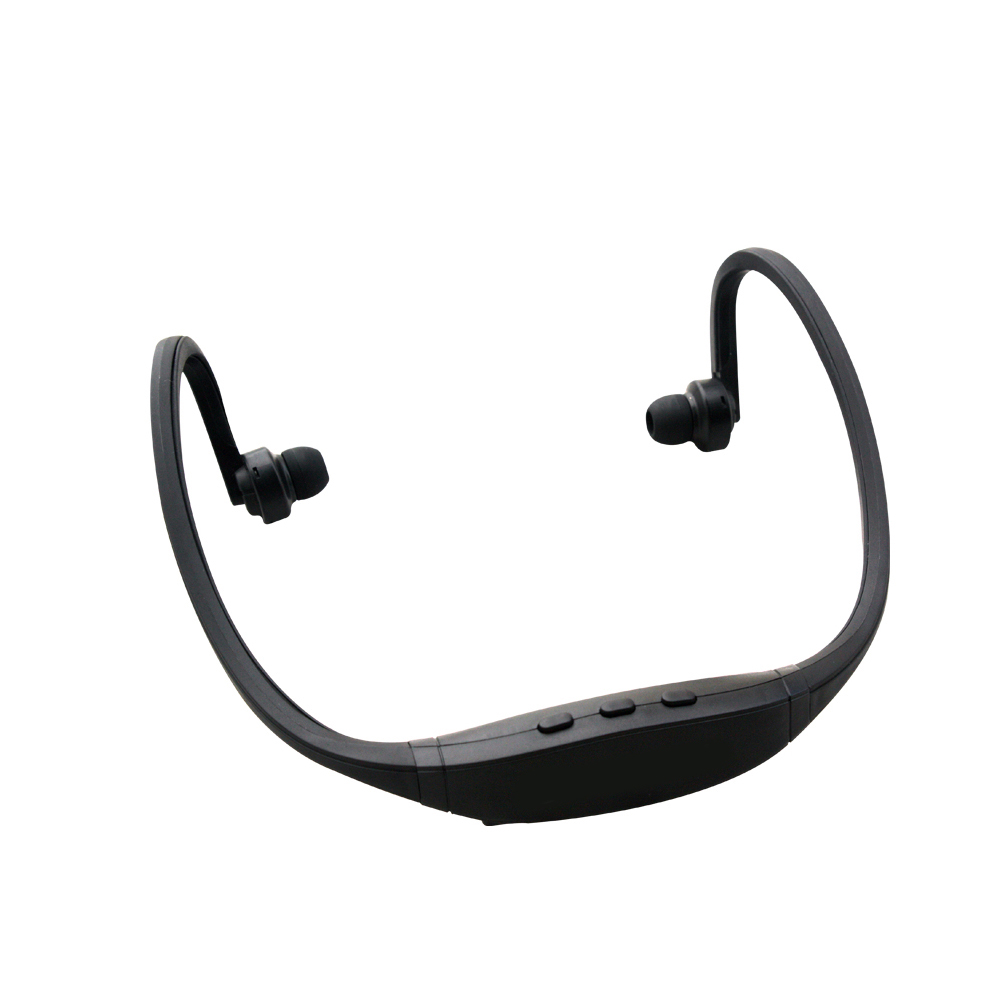 Pama Plug N Go 265 - Bluetooth Sports Neckband Headset With Mic/Remote - Black