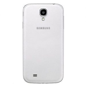 Genuine Samsung Leather Battery Cover For Galaxy S4 In White - Bulk