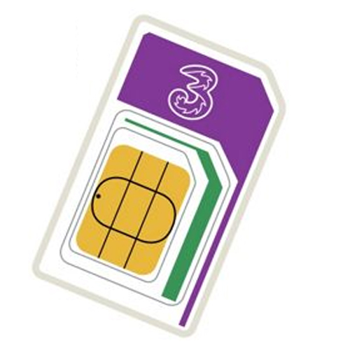 3 Mobile Pay As You Go Trio Sim ( Full MicroNano ) Retail Pack