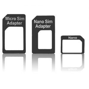 Pama Sim Adapter 3 Pack - Nano to Micro - Micro to Standard