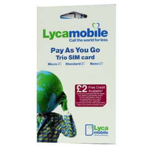 Lyca Mobile Pay As You Go Trio Sim ( Full MicroNano ) Retail Pack