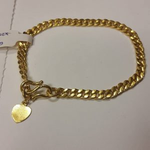 24ct bracelet with heart charm